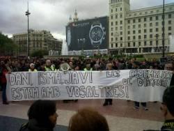 Manifestació de Barcelona en suport als presos del 29-M