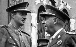 El rei espanyol i el dictador Franco