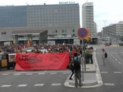 La manifestació ha recorregut els carrers de Sants