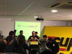 David Fernàndez al Casal Independentista Jaume Compte de Sants
