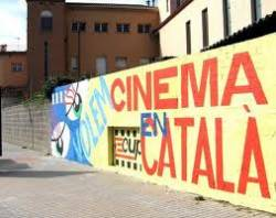 Graffiti from Girona in defence of the Catalan cinema