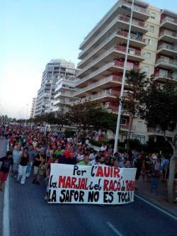 Rebuig de la ciutadania al projecte d'urbanització del Racó de Tomba en Marxuquera