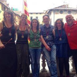 Montse Venturós i el seu equip de govern municipal (els 5 regidors de la CUP)