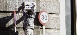 Acció de Sabadell per la República al carrer d'Alfons XIII