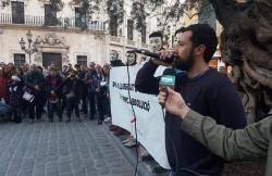 Centenars de persones se solidaritzen amb Valtonyc a Palma