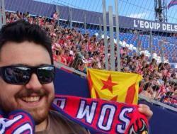 El Portaveu de les JERPV ha estat denunciat per la policia espanyola per exhibir una estelada durant el partit Llevant-Girona