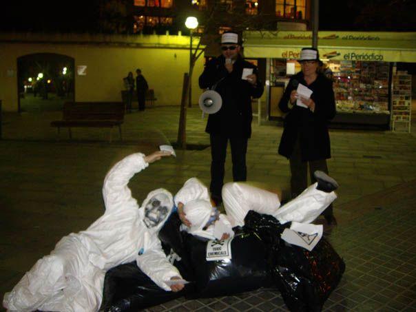 Acció reivindicativa contra els abocadors a Cerdanyola