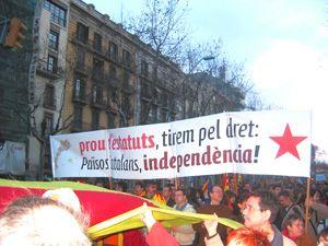 18 de febrer: un any de lluita pel Dret a l'Autodeterminació