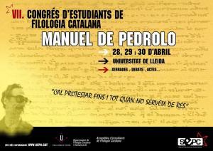 """VII Congrés d'Estudiants de Filologia Catalana """"Manuel de Pedrolo"""""""