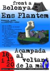 Acampada a la Universitat d'Alacant