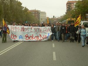 Manifestació estudiantil. Lleida