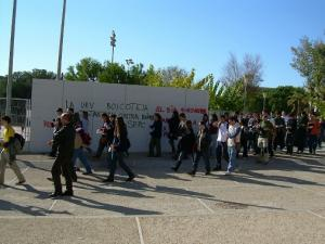 Cercavila a la Facultat de Magisteri (URV). Tarragona