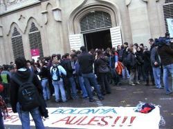 Concentració i assemblea al rectorat de la UdL